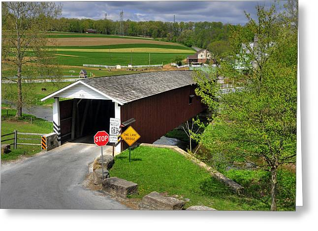 Jacksons Sawmill Covered Bridge Greeting Card by Dan Myers