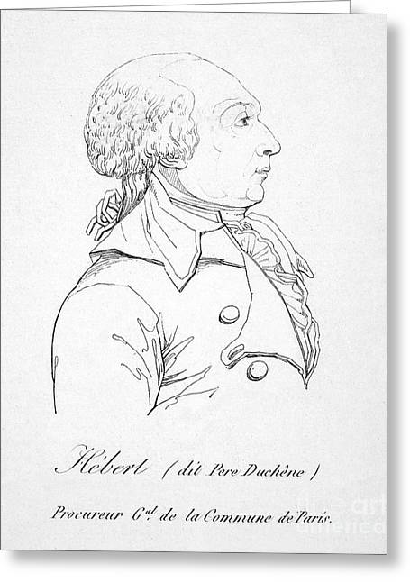 Jacques H�bert (1755-1794) Greeting Card by Granger