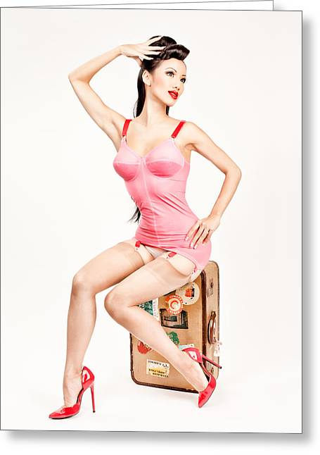 Jade Vixen Bubblegum 1076 Greeting Card by Gary Heller