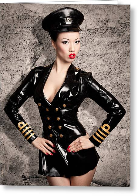 Jade Vixen Military 1143 Greeting Card by Gary Heller