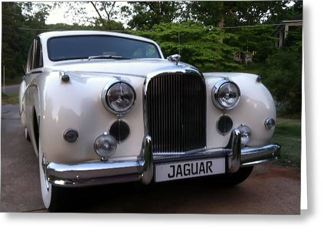 Greeting Card featuring the photograph Jaguar 1959 by Elizabeth Coats