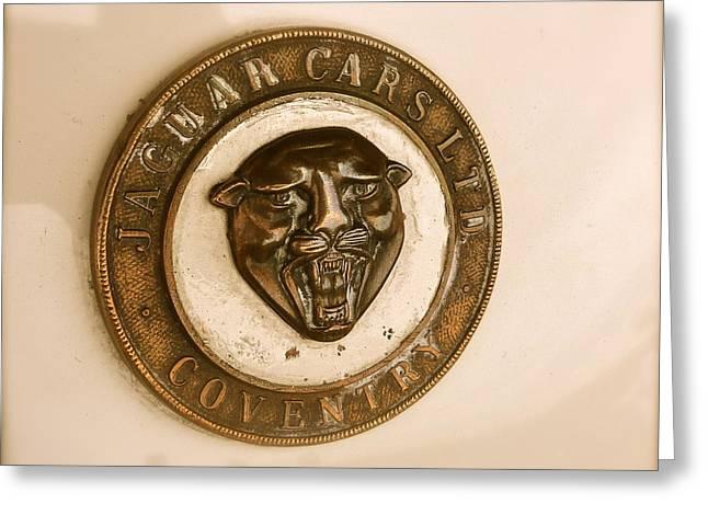 Jaguar Motor Car Badge Greeting Card by John Colley