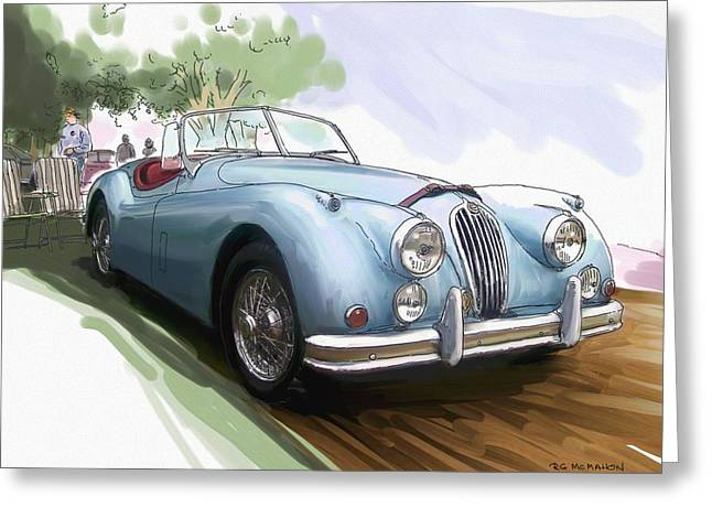 Jaguar X K 140 Greeting Card