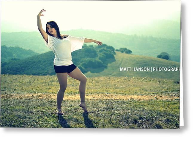 Greeting Card featuring the photograph Jaime Portrait 01 by Matt Hanson