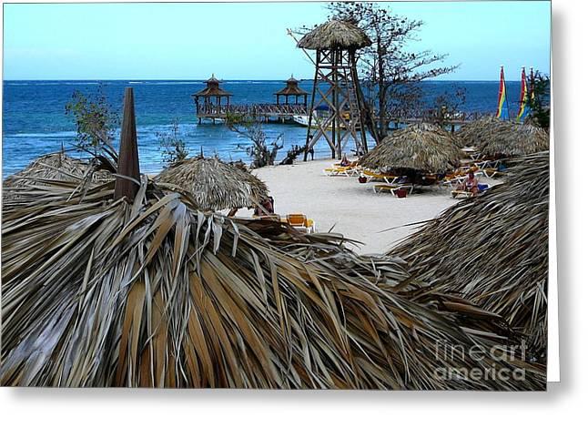 Jamaican Paradise Greeting Card by Anne Gordon