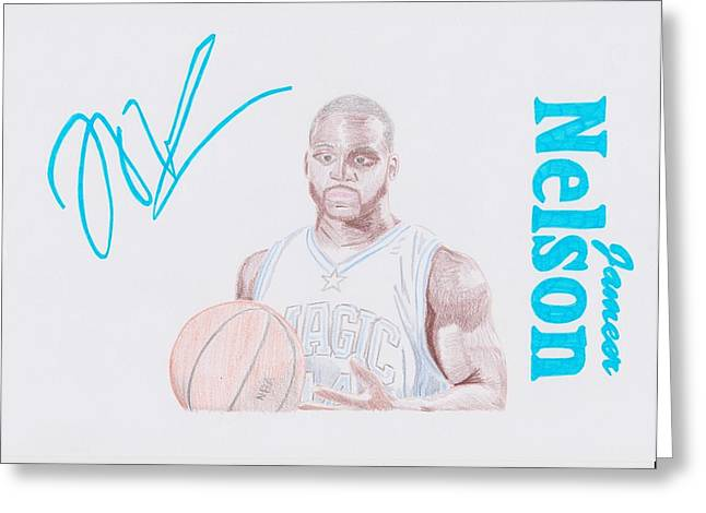 Jameer Nelson Greeting Card by Toni Jaso