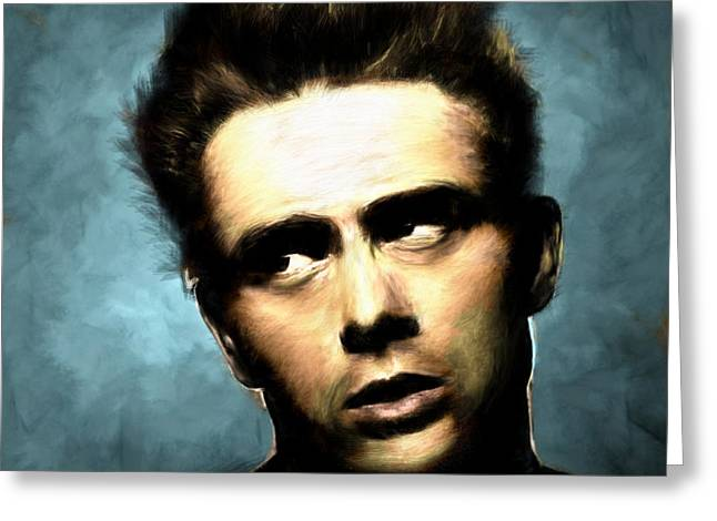 James Dean Greeting Card by Arne Hansen