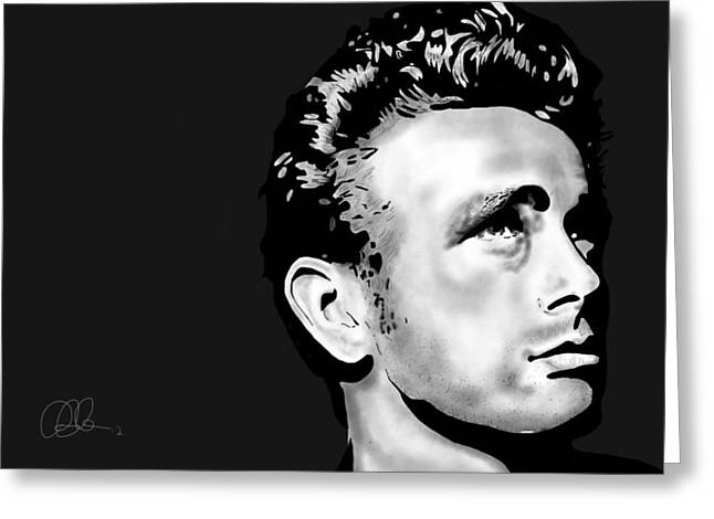 James Dean Greeting Card by Penny Ovenden