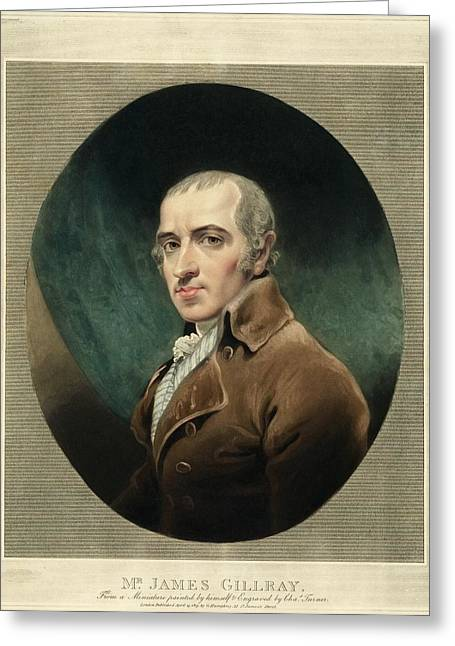 James Gillray, British Caricaturist Greeting Card by Miriam And Ira D. Wallach Division Of Art, Prints And Photographsnew York Public Library