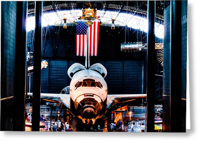 James S. Mcdonnell Space Hangar Greeting Card by David Hahn