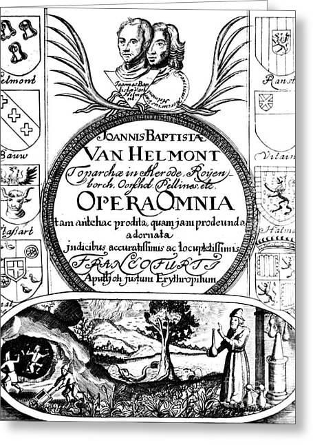 Jan Baptist Van Helmonts, Opera Omnia Greeting Card