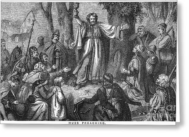 Jan Hus (c1369-1415) Greeting Card by Granger
