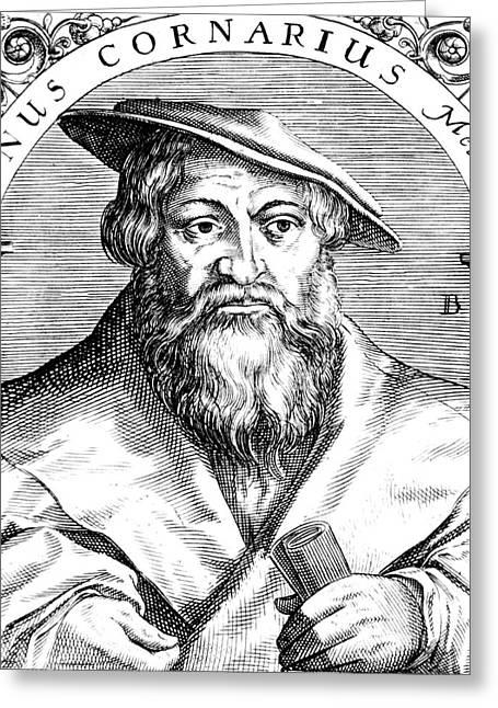 Janus Cornarius, German Philologist Greeting Card