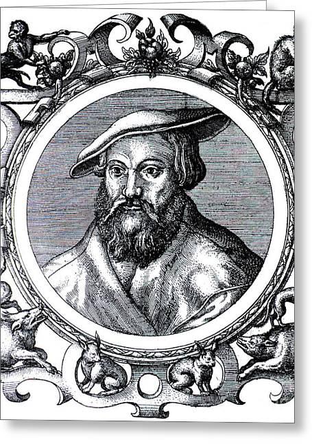 Janus Cornarius Greeting Card