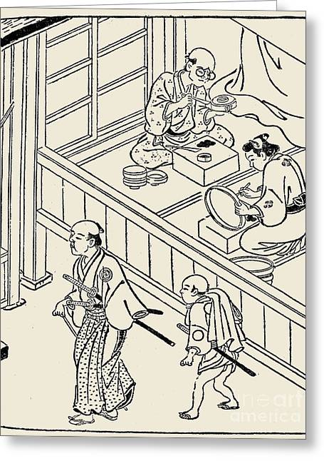 Japan: Samurai, 1700 Greeting Card by Granger