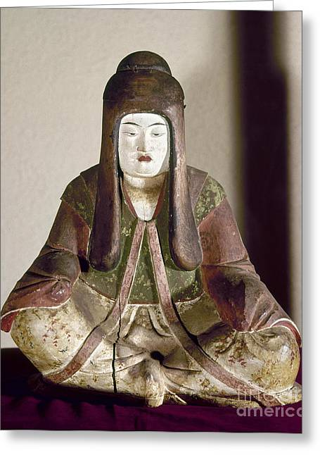Japan: Statue, 9th Century Greeting Card by Granger