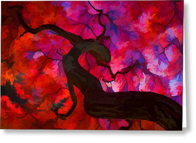 Japanese Maple Branch Greeting Card