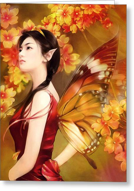 Japanese Painting Greeting Card by Janpanese