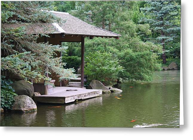 Greeting Card featuring the photograph Japanese Tea House by Bruce Bley