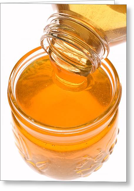Jar Of Honey Greeting Card by Garry Gay