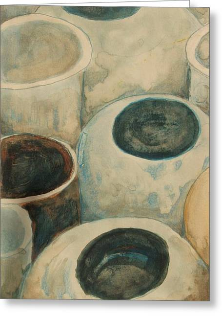 Jars Greeting Card by Diane montana Jansson