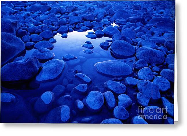 Jasper - Blue Boulders Greeting Card by Terry Elniski