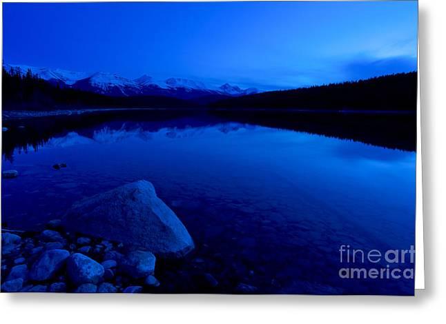 Jasper - Patricia Lake At Dusk 3 Greeting Card by Terry Elniski