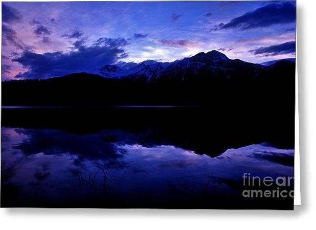 Jasper - Patricia Lake At Dusk Greeting Card by Terry Elniski