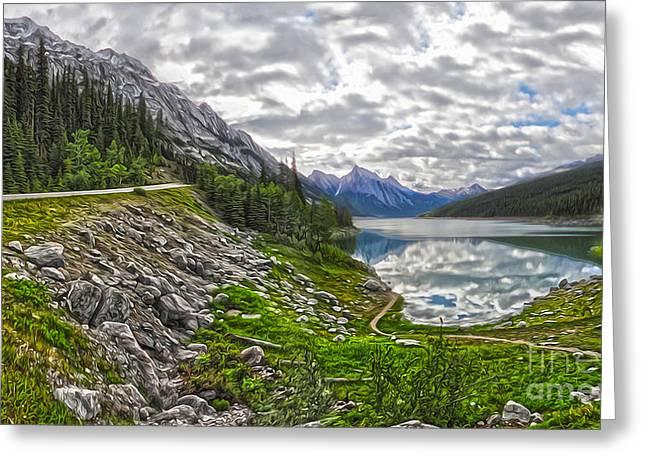 Jasper National Park - Medicine Lake Greeting Card