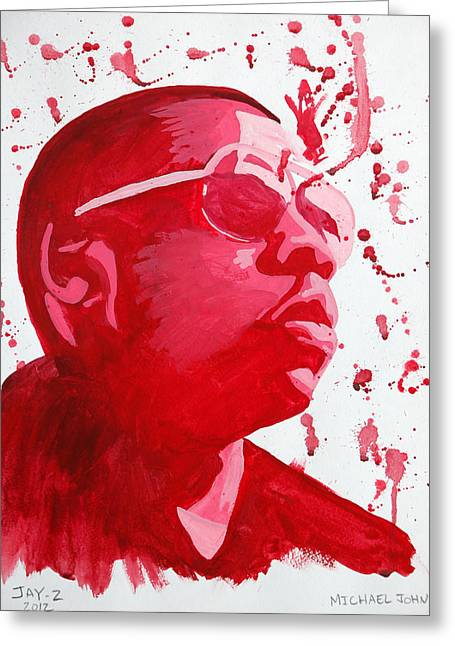 Jay-z Greeting Card by Michael Ringwalt