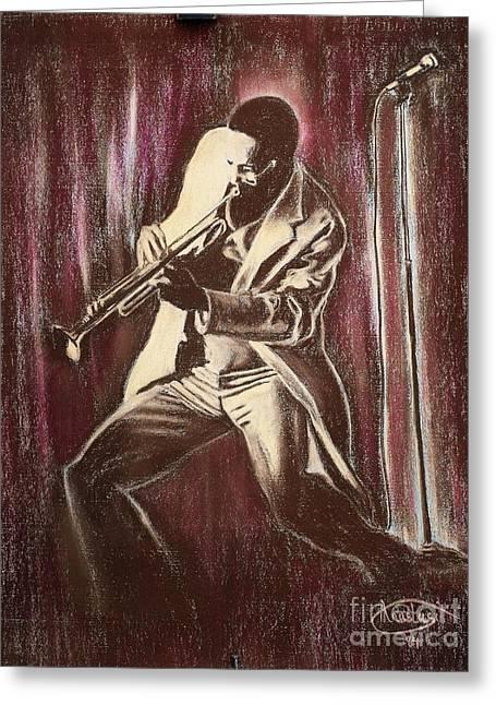Jazz Greeting Card by Anastasis  Anastasi