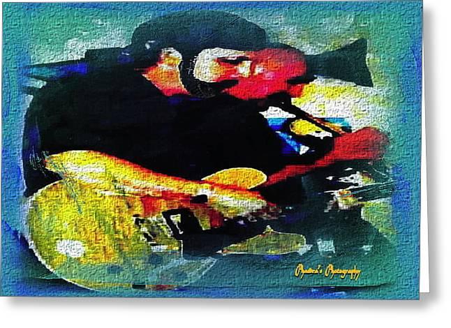 Jazz Duo Greeting Card by Sadie Reneau