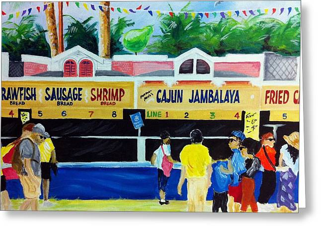 Jazz Fest Food Greeting Card by Terry J Marks Sr