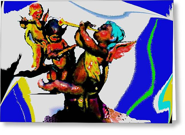 Jazz Trio At The Cloud Bar Greeting Card by Merlin Neff