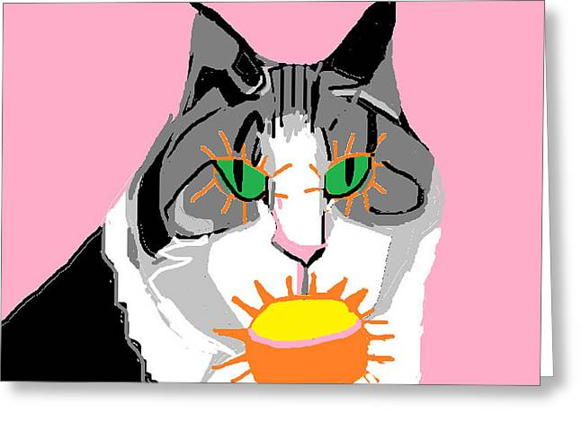 Jazzy Get Well Greeting Card by Anita Dale Livaditis
