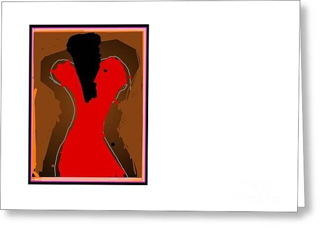 Jazzy Lady Greeting Card