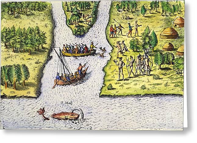Jean Ribault: Florida, 1562 Greeting Card