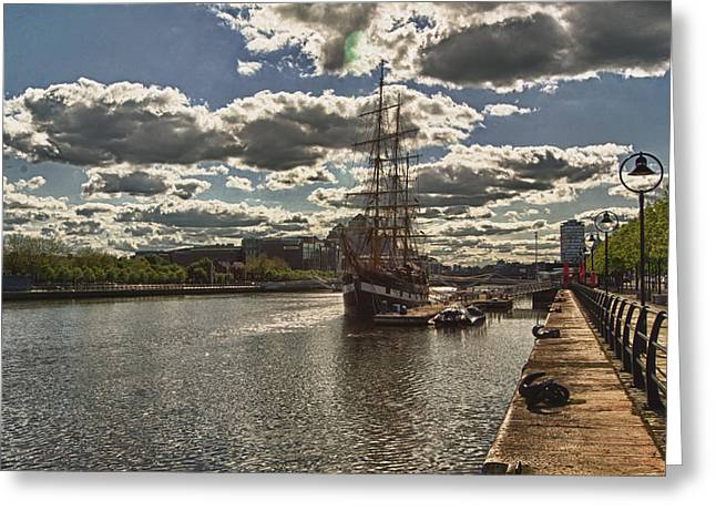 Jeanie Johnson Dublin Quays Ireland Greeting Card by Joe Houghton