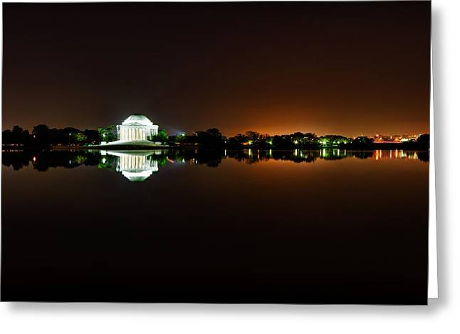 Jefferson Memorial Before Sunrise 1 Greeting Card by Val Black Russian Tourchin