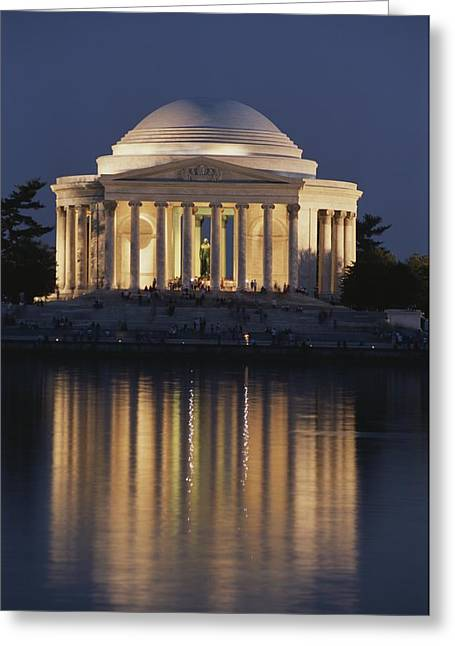 Jefferson Memorial, Night View Greeting Card by Richard Nowitz