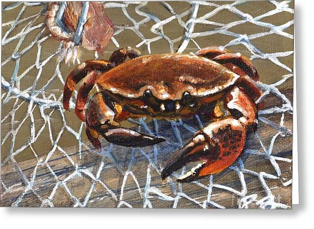 Jekyll Stone Crab Greeting Card by Pat Burns