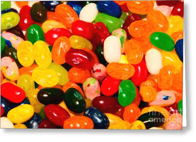 Jelly Belly - Painterly Greeting Card