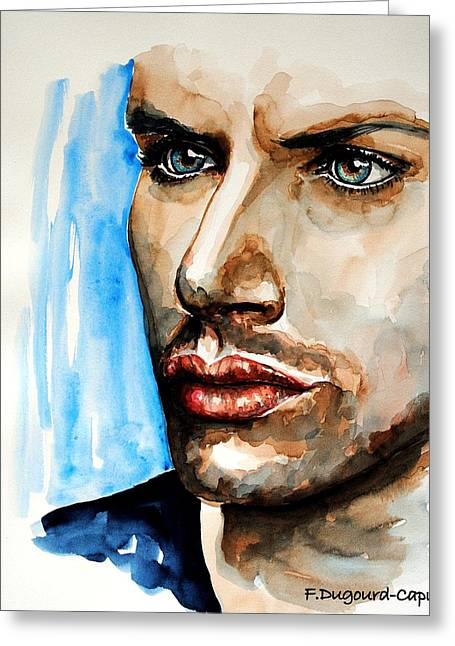 Jensen Ackles Greeting Card by Francoise Dugourd-Caput
