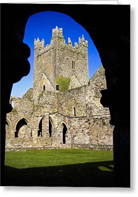 Jerpoint Abbey In Kilkenny Greeting Card by Chris Hill