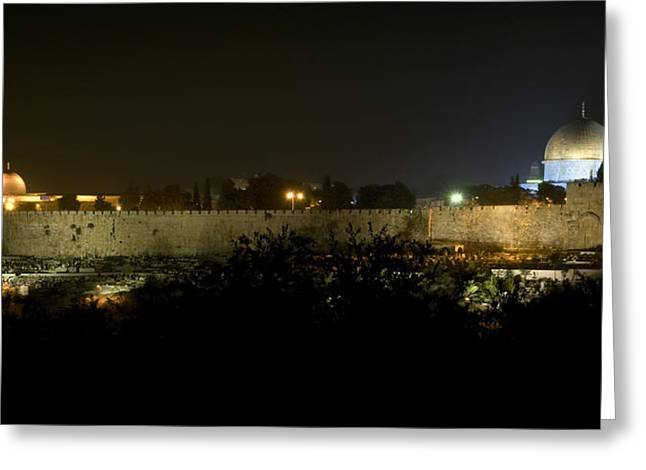 Jerusalem- City On A Hill Greeting Card