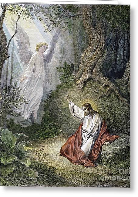Jesus Agony In Garden Greeting Card by Granger