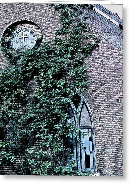 Greeting Card featuring the photograph Jesus Saves...just Not This Church by John Crothers