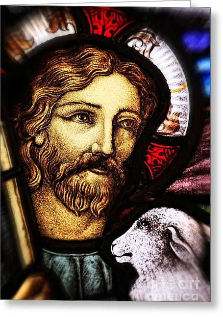 Greeting Card featuring the photograph Jesus The Good Shepard by Verena Matthew