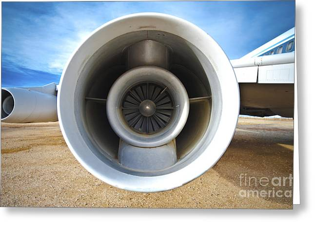 Jet Engine Greeting Card by Eddy Joaquim