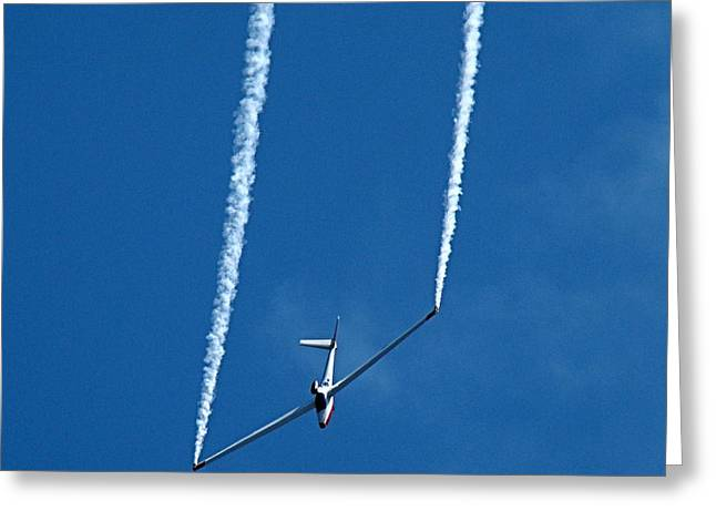Jet Powered Glider Greeting Card by Nick Kloepping